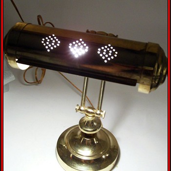 Vintage Brass Desk Lamp - Lamps