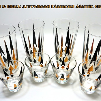 Diamond Arrowhead Atomic Drinking Glasses - Glassware