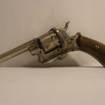 Belgian double action pinfired revolver. Late 19th Century.  - Sporting Goods