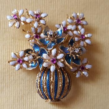 Ruby Diamond Enamel Brooch Part II (additional picture) - Fine Jewelry