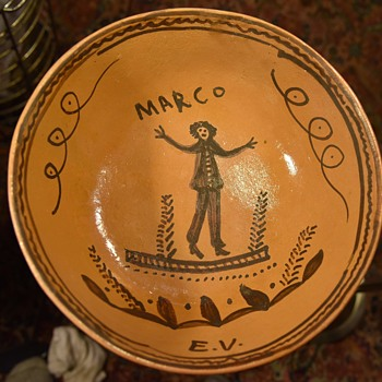 Very Large Folksy Bowl from Mexico - Marco - Pottery
