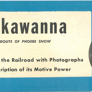 Lackawanna Railroad Motive Power Brochure - Railroadiana