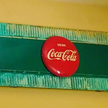 "Early Coca-Cola menu board with 12"" button - Coca-Cola"