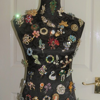 Vintage Brooch Display - Costume Jewelry