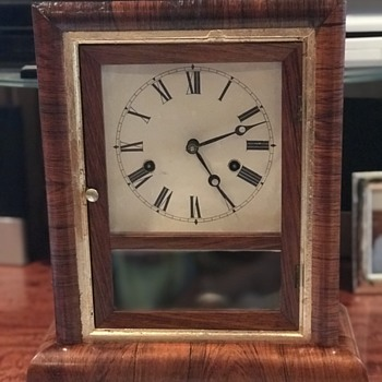 Gilbert 1871 mantle clock restored  - Clocks
