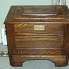 Antique Small Oak Ice Chest - Lift Top