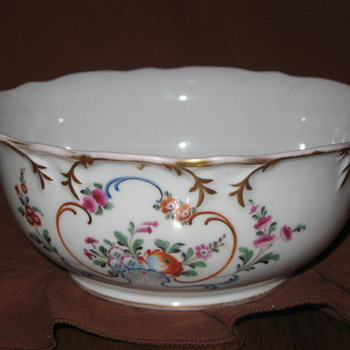 Russian Gilded Floral Bowl by Aleksei Popov - Circa 1844 - China and Dinnerware