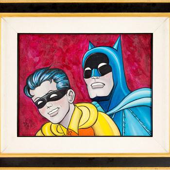 Bob Kane Batman and Robin Painting Original Art