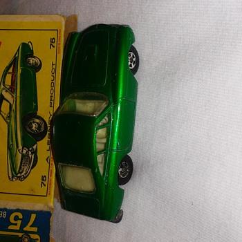 Matchbox series model 75 Ferrari Berlinetta (rare green) - Model Cars