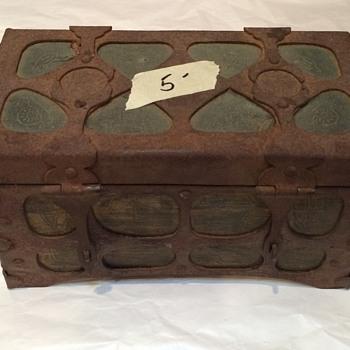 Antique Metal Box - Fine Jewelry