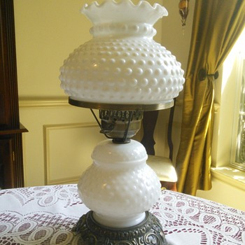 Hobnail Milk Glass Lamp ACC - Lamps