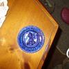cobalt blue all the world loves a clown plate