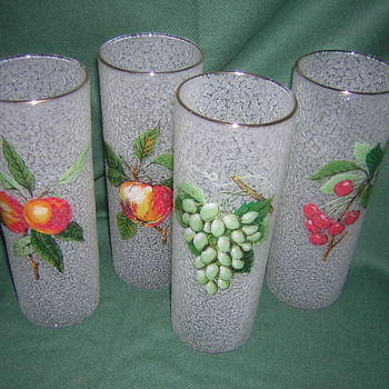 Set  Of Eight Tumblers, M.C.M. Art Glass? - Glassware