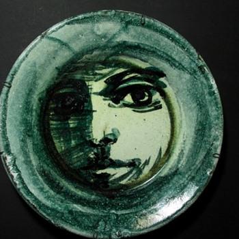 hand painted studio art portrait plate