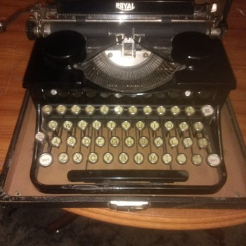 Pesky Amercians get everywhere. A Royal pre WWII typewriter looking good after 80 plus years - Office