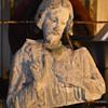 Sacred Heart of Jesus - sculpture/bust - ruins?