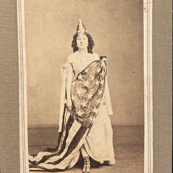 Civil War cdv of Lady Liberty - Military and Wartime