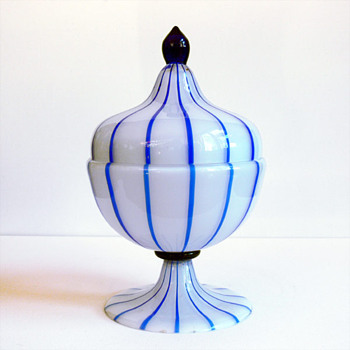 "Tango glass, Loetz , with decoration by Michael Powolny ""from hubbie's collection"" - Art Glass"