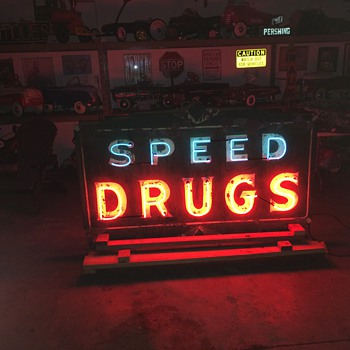 Late 1930's double sided neon sign lives again - Signs