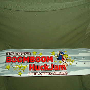 "TONY HAWK'S BOOMBOOM HUCKJAM NORTH AMERICAN TOUR Deck ""Cant find another anywhere! please help with info.."