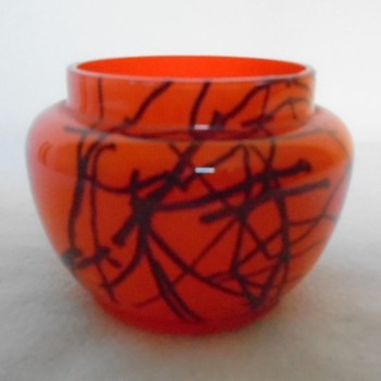 Czech Art Deco Peloton Glass Bowl - Art Deco