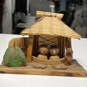 """Vintage Japanese wooden dolls, and """"nativity scene"""". Anyone know anything about them - Dolls"""