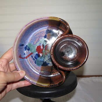 Colorful signed Pottery bowl