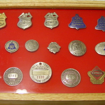 Collection of Tel. Employees badges - Telephones