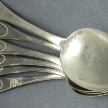 Set of German Silver and Silver-plate Spoons - Silver