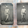 Pair of Baseball Tintypes/Ambrotypes (Tucker Brothers from 1872 Pepperell, MA Ball Club)