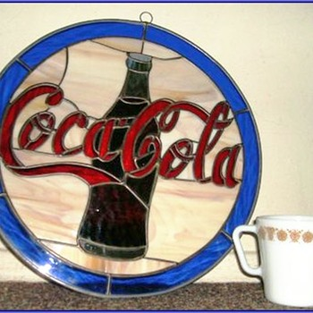 Stained Glass - Coca Cola ( COKE ) Decor