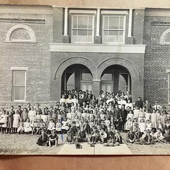 Photo Postcard The Whole Bladen School Bladen Nebraska  - Postcards