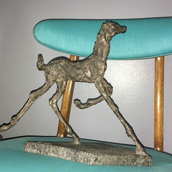 Wood Carved Horse Sculpture  - Fine Art