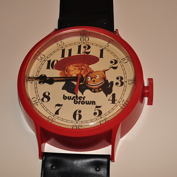 Buster Brown Wristwatch Wall Clock - Advertising