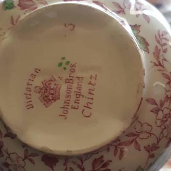 Part 2 8 service set chintz - China and Dinnerware