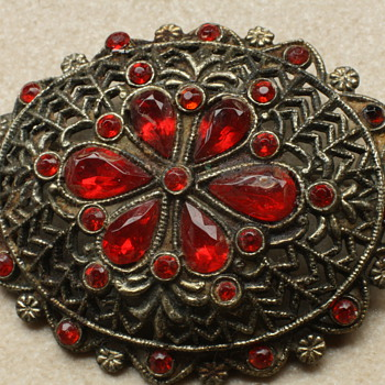 20's czech brooch - Costume Jewelry