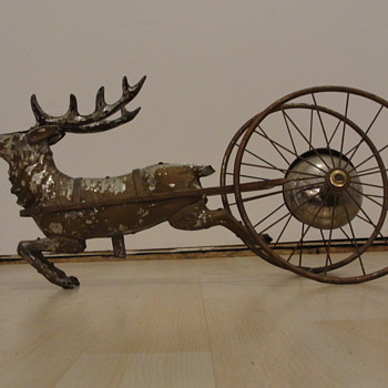 Reindeer Pull Toy with Bell - Toys