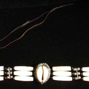Hairpipe bone and leather chokers, but from where?