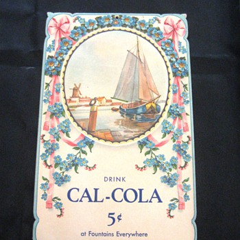 Cal-Cola Die Cut Soda Fountain ad - Advertising