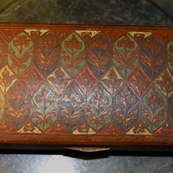 Enamelled Brass Box 'Made in India' - Furniture