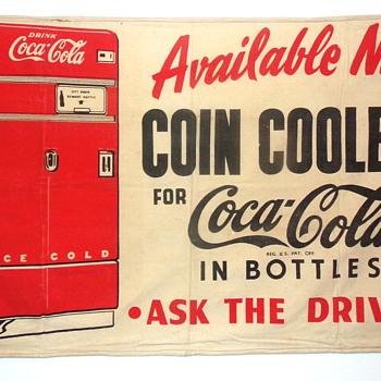 1950's Coca-Cola Truck Banner - Coca-Cola