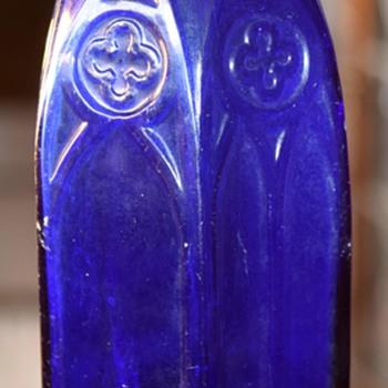 Very Large Cobalt Carter's Ink Bottle - 1930s? - Bottles