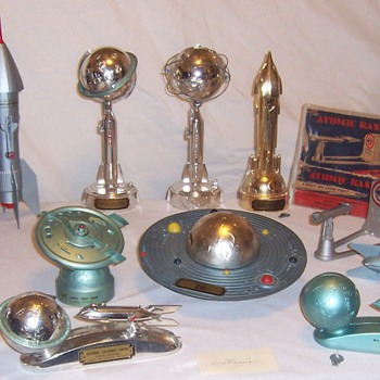 Space Race Era Mechanical Toy Banks - Coin Operated