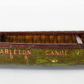 early American canoe factory display samples - Advertising