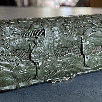 Antique Chinese box with metal compartments - Asian
