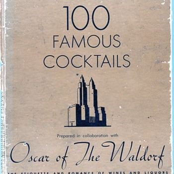 100 Famous Cocktails of The Waldorf 1939 - Books