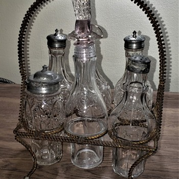 Vintage Condiment Set - Glassware