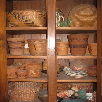 Some of My Baskets - More to Come - Native American