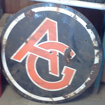 Unknown antique porcelain AG sign