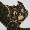 Scaredy Black Cat Halloween Paper Diecuts, Made in U.S.A., ca 1920s-1940s